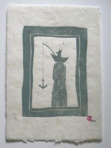Linol-Handdruck 20 x 15 cm