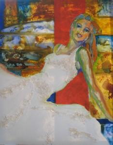 Das weiße Kleid. El vestido blanco