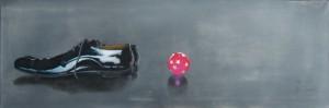 play with me (4), Acryl auf Leinwand, 90x30 cm, 2013