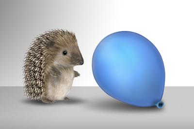 Igel mit Ballon