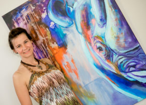 Steffi mit Blue Bull- Stephanie Wermke