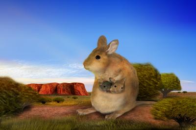 Känguru mit Hamster